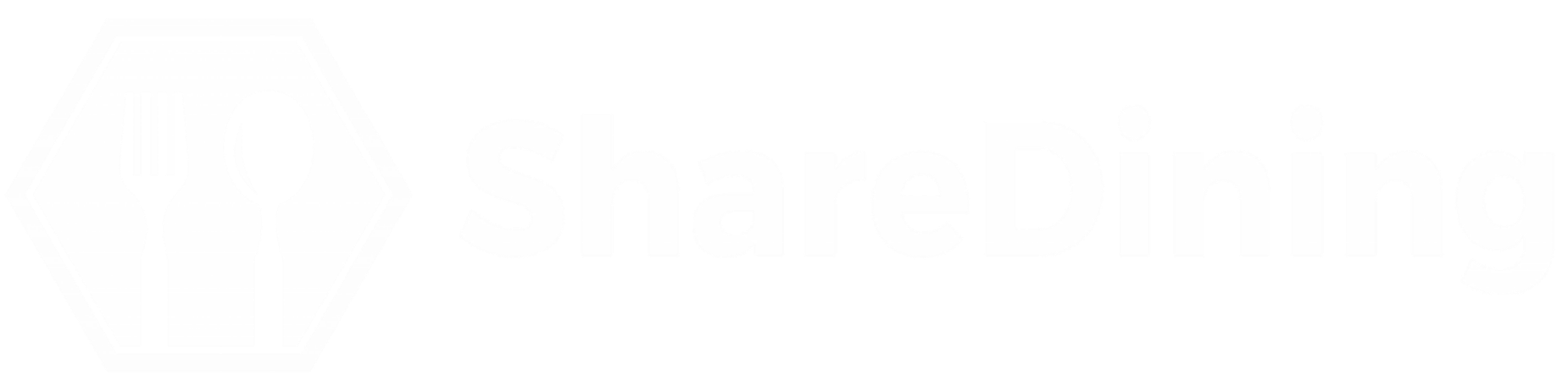 ShareDining Horizontal Logo - White